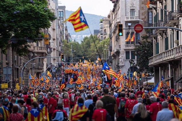 Manifestación de la Diada en Barcelona convocada por la ANC