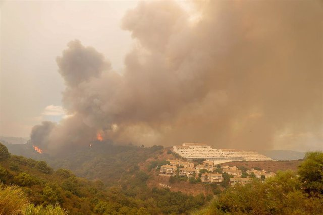 Incendio en Sierra Bermeja en una imagen de archivo