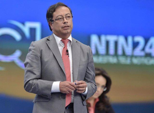 El precandidato a la Presidencia de Colombia Gustavo Petro