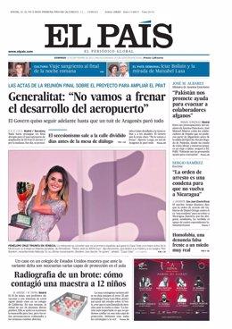 Portada de El País del 12 de septiembre de 2021