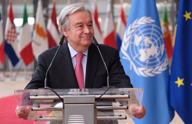 Archivo - El secretario general de la ONU, António Guterres
