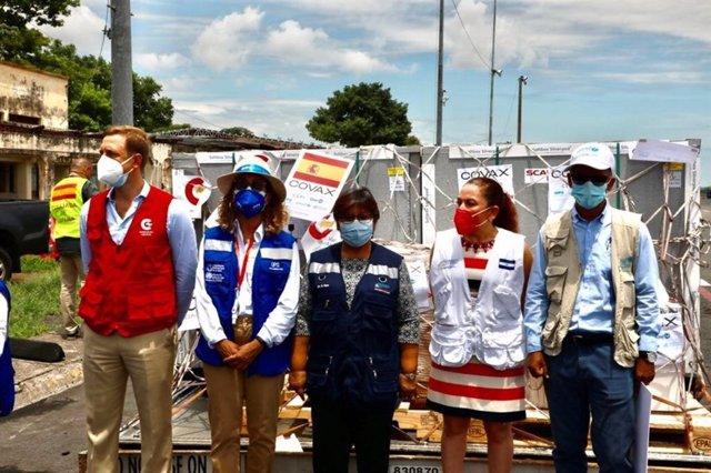 Donación de vacunas a Nicaragua por parte de España