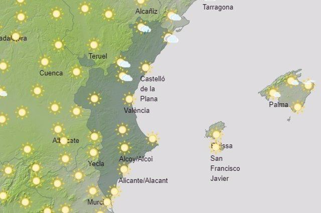 Predicción del tiempo para este domingo 12 de septiembre
