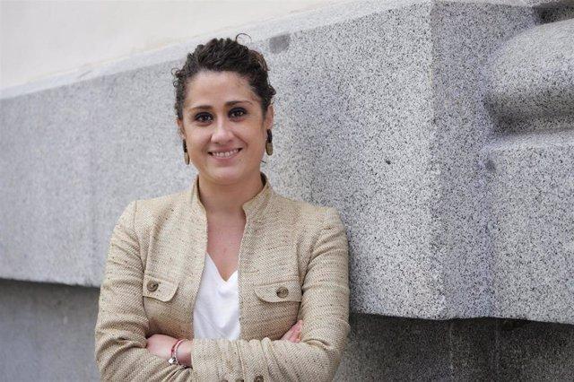 La concejala socialista Enma López, portavoz de su grupo en la Comisión de Economía en el Ayuntamiento de Madrid