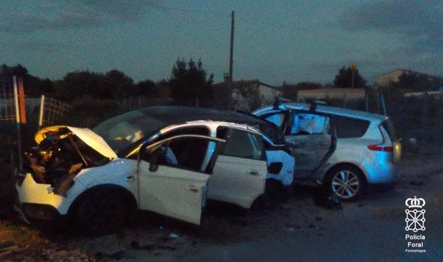 Accidente de tráfico en Corella