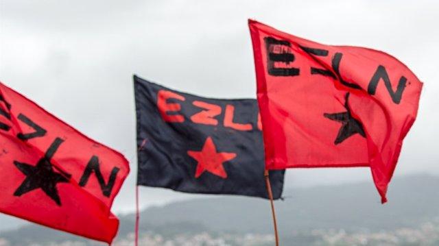 Banderas del Ejército Zapatista de Liberación Nacional (EZLN)