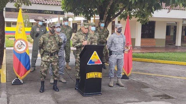 El comandante general de las Fuerzas Armadas Colombia, el general Luis Fernando Navarro Jiménez