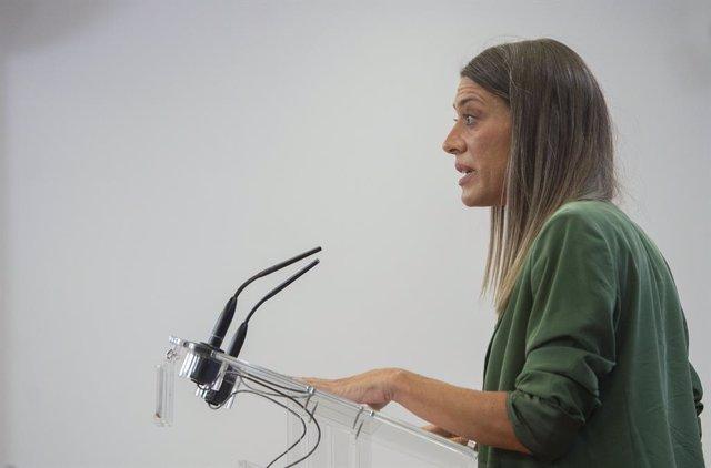 Archivo - Arxivo - La portaveu de Junts per Catalunya, Miriam Nogueras