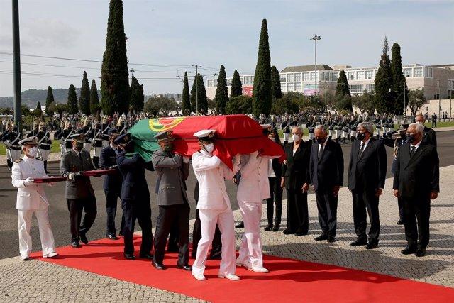 Funeral del expresidente portugués Jorge Sampaio en Lisboa