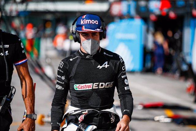 ALONSO Fernando (spa), Alpine F1 A521, portrait during the Formula 1 Heineken Gran Premio D'italia 2021, Italian Grand Prix, 14th round of the 2021 FIA Formula One World Championship from September 9 to 12, 2021 on the Autodromo Nazionale di Monza, in Mon