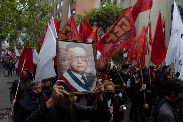 Manifestació en l'aniversari del cop d'estat contra Salvador Allèn