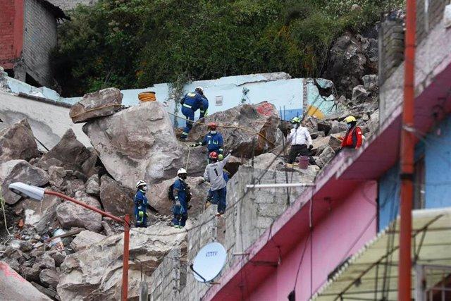 Derrumbamiento del cerro de Chiquihuite, en Ciudad de México