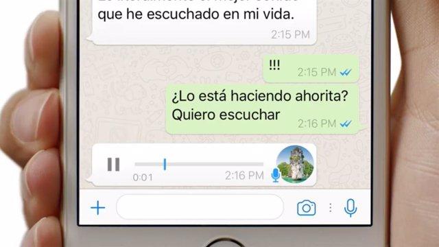 Mensajes de voz en WhatsApp