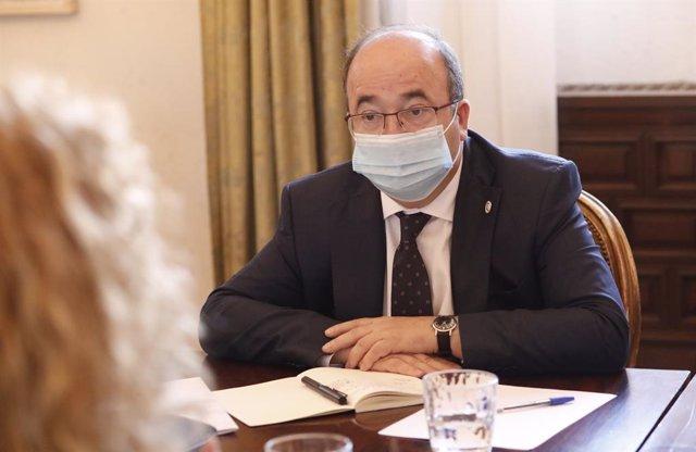 Arxiu - El ministre de Cultura i Esport, Miquel Iceta
