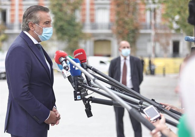 El consejero de Presidencia, Justicia e Interior, Enrique López, ofrece declaraciones a los medios de comunicación. En Madrid, a 6 de septiembre de 2021, en Madrid (España).