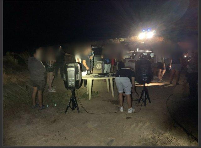 Imagen de la fistea ilegal celebrada en Lorca