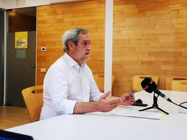 El portaveu d'ERC a l'Ajuntament de Barcelona, Jordi Coronas, en la roda de premsa