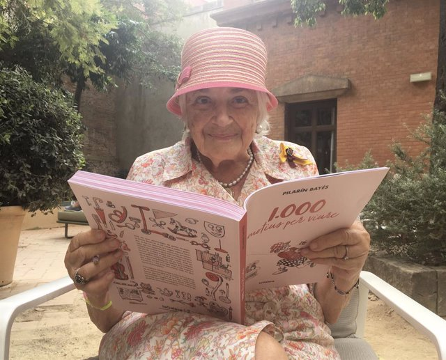 La il·lustradora Pilarín Bayés i el seu llibre '1.000 motius per viure' (La Galera).