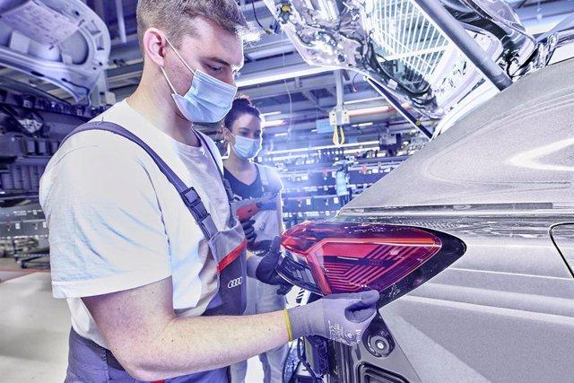Archivo - Una fábrica de Audi
