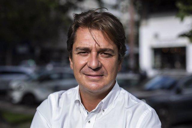 El alcalde de Fuenlabrada, Javier Ayala, durante una entrevista para Europa Press, a 9 de septiembre de 2021, en Madrid, (España).