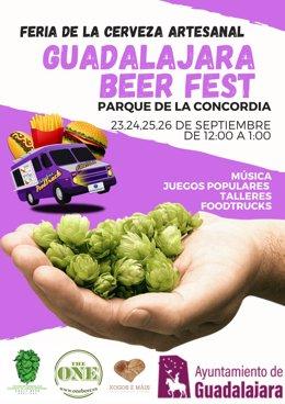 Cartel de la Feria de la Cerveza de Guadalajara.
