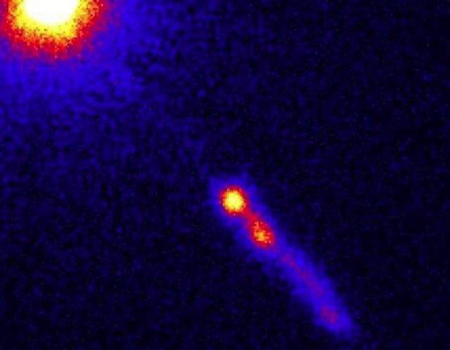 El quásar 3C 273 con su chorro, visto por el Observatorio de rayos X Chandra