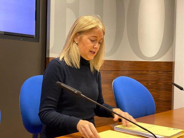 Archivo - Portavoz de Vox en el Ayuntamiento de Oviedo, Cristina Coto.