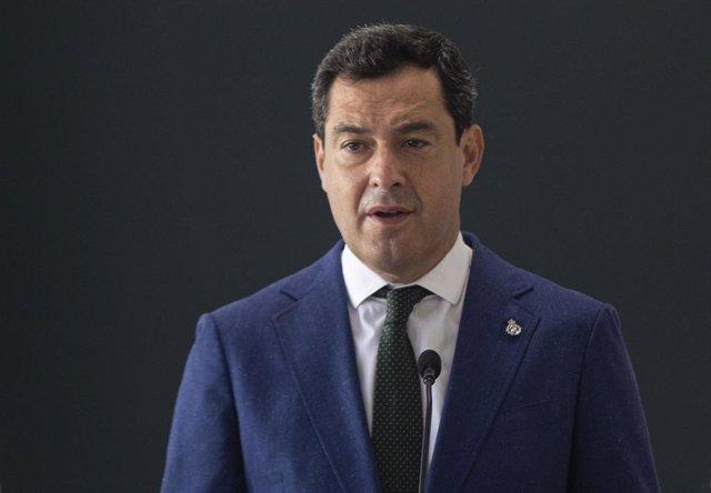 El presidente de la Junta de Andalucía, Juanma Moreno, en una foto de archivo.