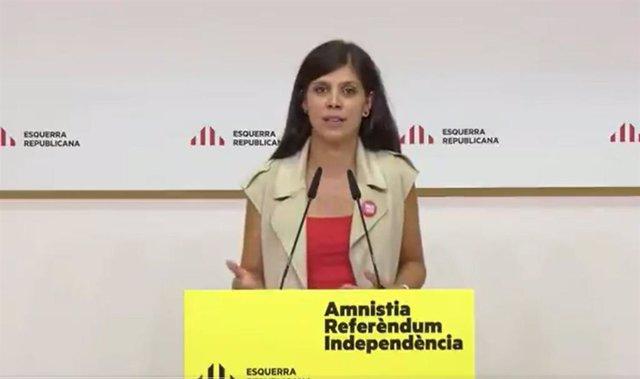 Arxiu - La secretària general adjunta i portaveu d'ERC, Marta Vilalta, en una conferència de premsa
