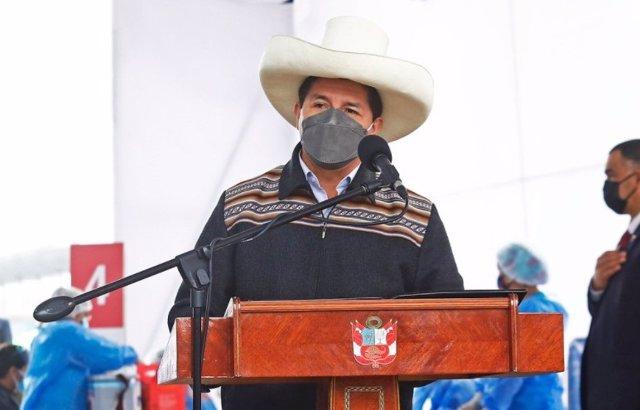 El presidente de Perú, Pedro Castillo.