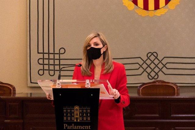 Archivo - La coordinadora autonómica de Ciudadanos (Cs) Baleares y portavoz parlamentaria, Patricia Guasp.