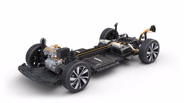 Volvo XC40 Recharge (single motor): powertrain cutaway