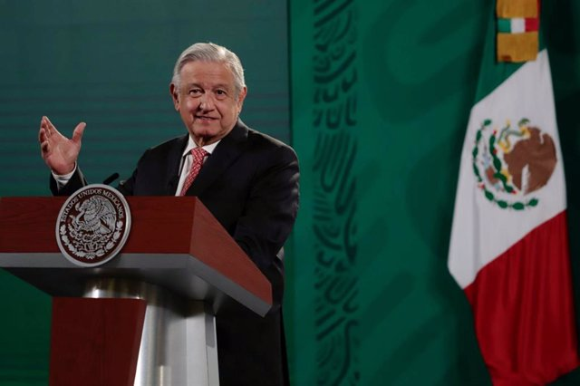 16 August 2021, Mexico, Mexico City: Mexican President Andres Manuel Lopez Obrador speaks during a morning press conference at the National Palace. Photo: El Universal/El Universal via ZUMA Press Wire/dpa