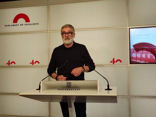 Archivo - Arxivo - El diputat electe de la CUP Carles Riera