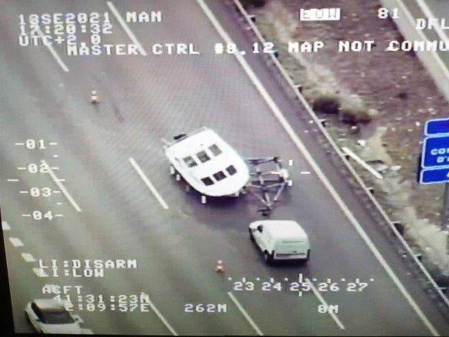 Furgoneta involucrada un accident a l'AP-7