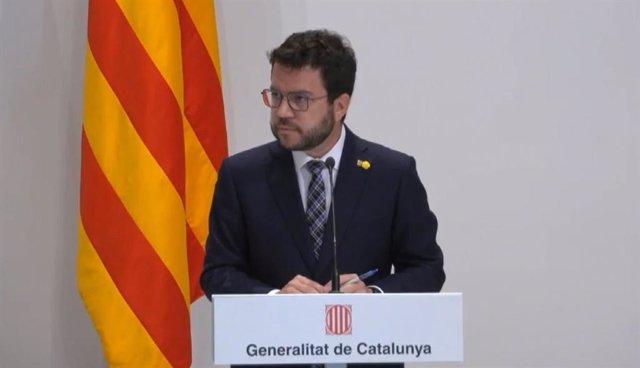Arxiu - El president de la Generalitat, Pere Aragonès