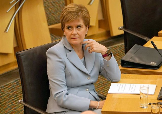 01 September 2021, United Kingdom, Edinburgh: Scotland's First Minister Nicola Sturgeon attends a session at the Scottish Parliament. Photo: Andrew Milligan/PA Wire/dpa
