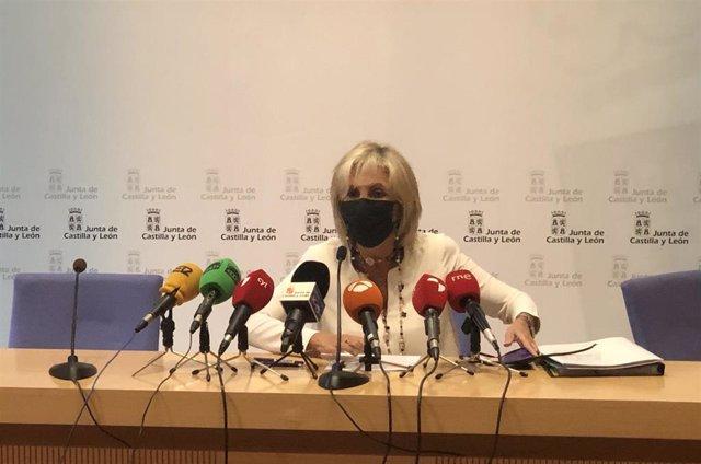 Rueda de prensa de la consejera de Sanidad, Verónica Casado.