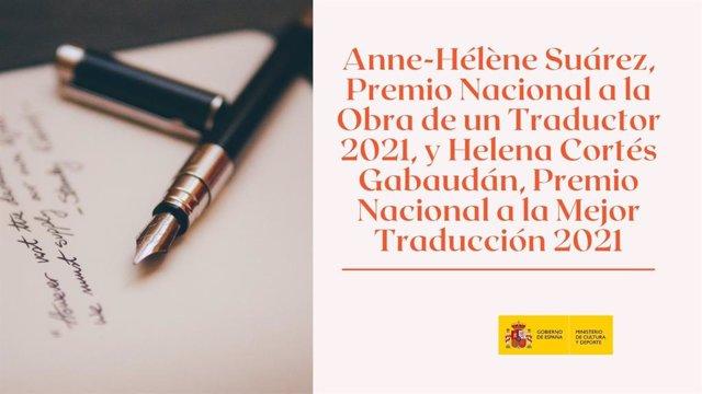 Una obra de Goethe y Anne-Hélène Suárez, premios Nacionales de Traducción