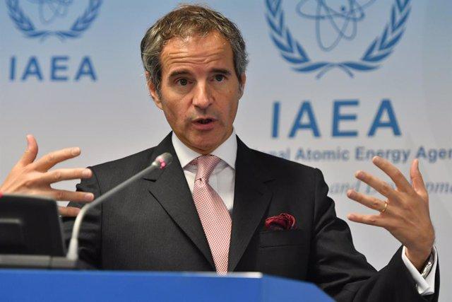 Archivo - El director general de la Agencia Internacional de la Energía Atómica (AIEA), Rafael Grossi