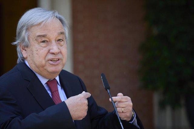 Archivo - El secretario general de Naciones Unidas, Antonio Guterres