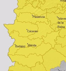 Alerta para el 14 de septiembre en Extremadura