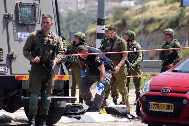 Archivo - Militares israelíes en Cisjordania