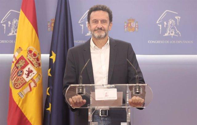 El portavoz parlamentario de Ciudadanos, Edmundo Bal, ofrece una rueda de prensa en el Congreso