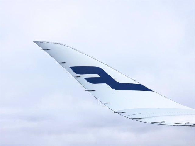 Archivo - Ala, avión, Finnair.