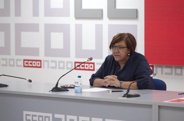 La secretaria de Acción Sindical de CCOO, Mari Cruz Vicente.