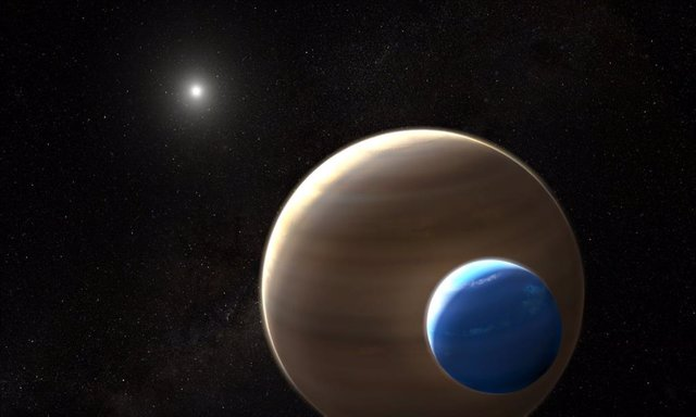 Impresión Artística De La Exoluna Kepler-1625B I Orbitando Su Planeta.