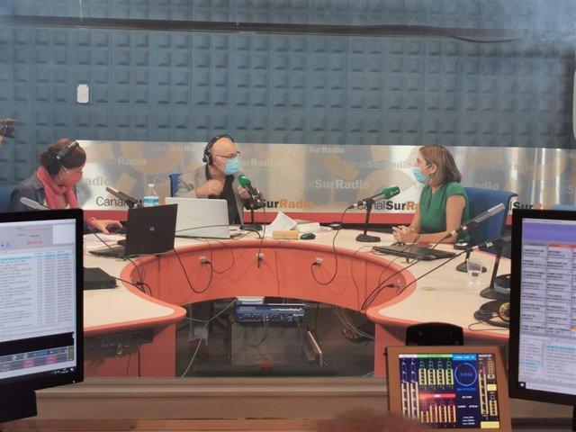 La consejera de Empleo, Rocío Blanco, en una entrevista en Canal Sur Radio