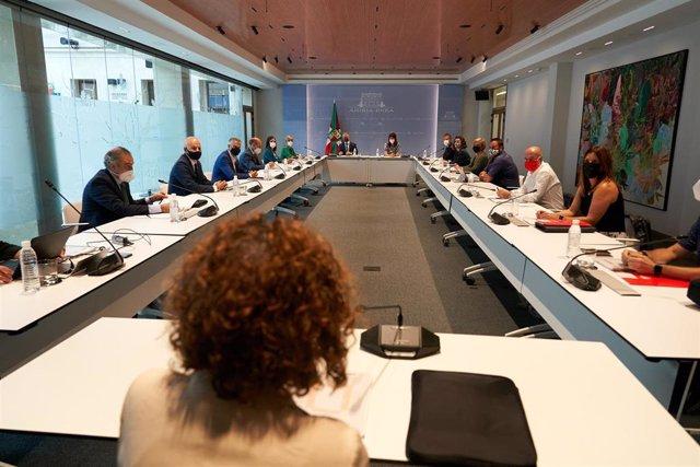 Reunión de la Mesa de Diálogo Social en la sede de Lehendakaritza