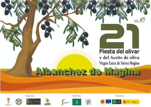 Cartel de la XXI Fiesta del Olivar y del Aceite de Oliva Virgen Extra de Sierra Mágina